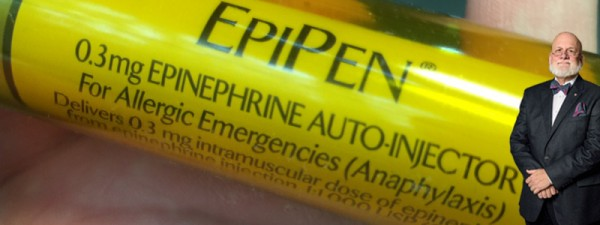 Larry was leaning on an EpiPen